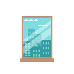 Room window flat illustration.