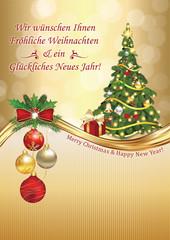 geschaftliche weihnachtsgrusse frohliche weihnachten und ein gluckliches neues druckfarben verwendet benutzerdefiniertes format