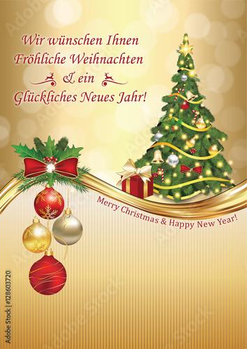 Standard Weihnachtsgrüße.Geschäftliche Weihnachtsgrüße Fröhliche Weihnachten Und Ein