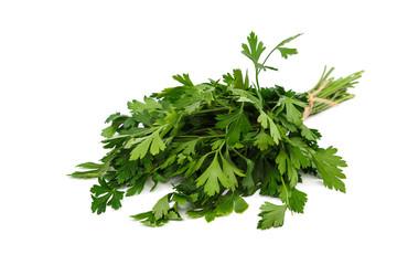 Fresh parsley isolated on a white background