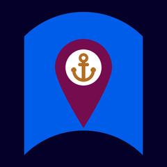 flat vector icon design collection sea anchor