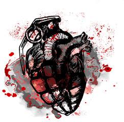 эскиз татуировки красочное сердце
