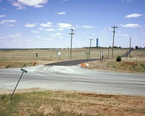 crossroads somewhere in Oklahoma