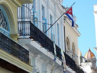 old Havana colonial buildings, Cuba