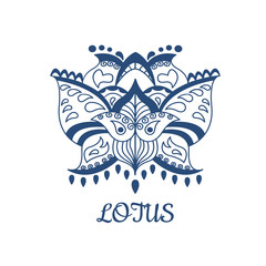 Decorative vector lotus flower