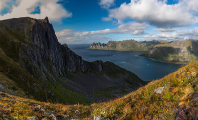 Hiking the Husfjellet on Senja Island, Norway