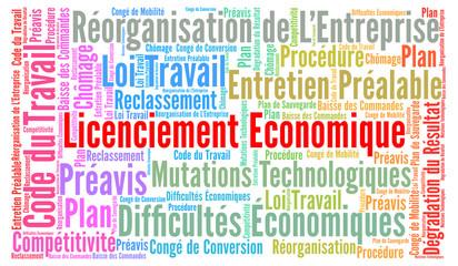 Licenciement économique nuage de mots