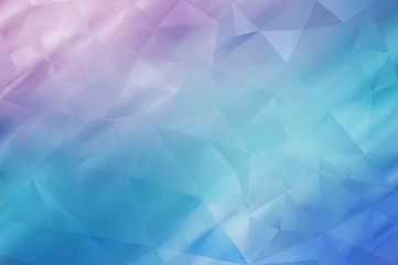 Multicolor geometric rumpled triangular low poly style gradient