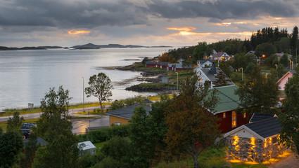 Small Norwegian Village Berg on Senja Island