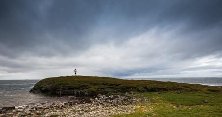 Small Lighthouse on the Coast of Andoya, Vesteralen, Norway