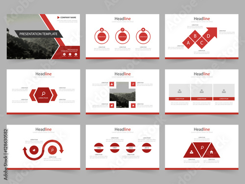 Infographic Ideas infographic proposal template : Red Abstract presentation templates, Infographic elements template ...