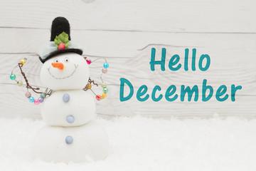 Hello December message