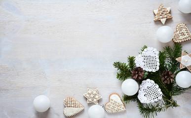 Christmas white decoration