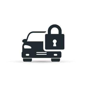Car lock icon, vector simple isolated illustration.