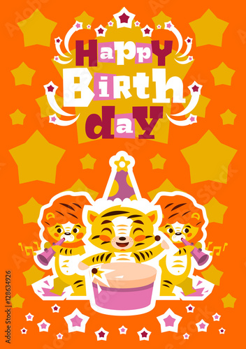 Greeting card happy birthday  Designed for printing