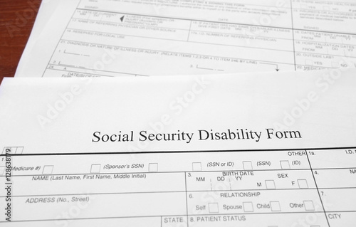 Social Security Disability Form Stock Photo And RoyaltyFree