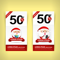 037 Collection of red and white web tag banner promotion sale di