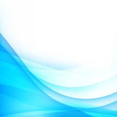 Abstract background light blue curve and wave element vector ill