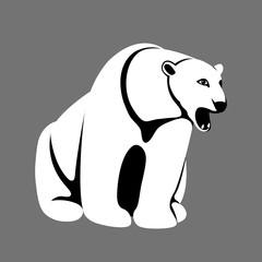 polar bear  vector illustration styl flat