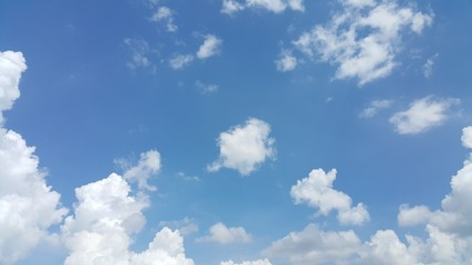 Blue sky and scatter white cloud.