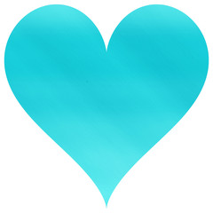 Beautiful simple and turquoise blue heart shape
