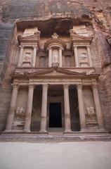 The Treasury building or Al Khazneh at Petra, Jordan