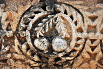 Antikes Ornament in Kapernaum am Nordufer des Sees Genezareth