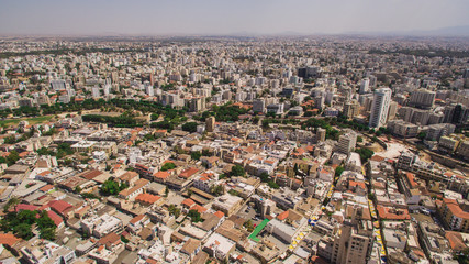 Aerial view of Nicosia, southern part