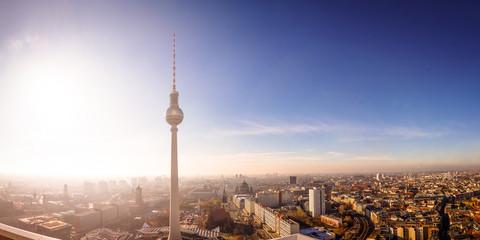 Acrylic Prints Berlin Über den Dächern von Berlin, Fernsehturm, Rotes Rathaus, Berliner Dom