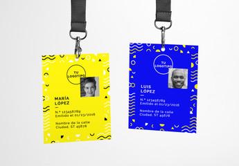 Maquetas de tarjetas de identificación