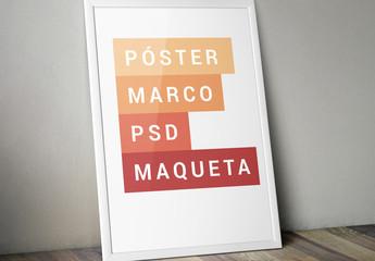 Maqueta de marcos para pósteres inclinados