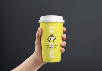 Maquettes de gobelet à café