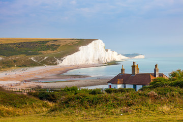 Wall Mural - Seven Sisters Chalk cliffs from Seaford Head