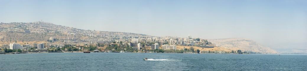 City from Lake Tiberias (panorama)