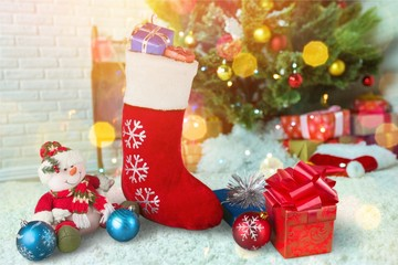 Christmas stocking.