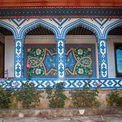 Beautyful mosaic arc entrance of arabic house