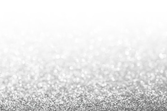 Abstract glitter silver background