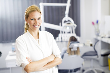 Female dentist