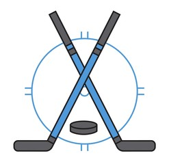 Sport team hockey badge vector.