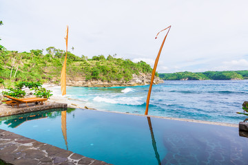 The pool and the ocean in Bali