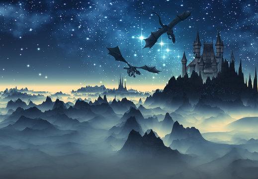 Dragon Castle Art