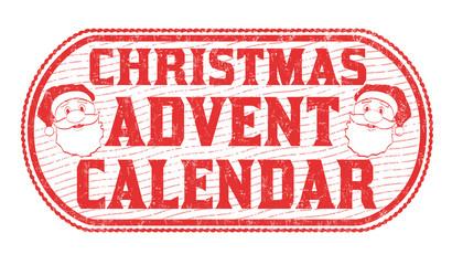 Christmas advent calendar sign or stamp