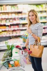 Customer at supermarket