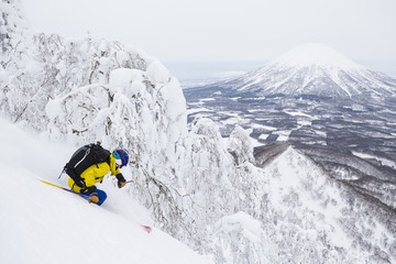 Downhill Skiing, Rusutsu, Japan