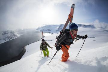 Backcountry Skiing, Isafjordur, Northwest Fjords, Iceland