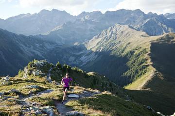 Trail running in the Zillertal Alpen