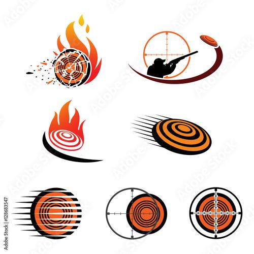 set of vector logo sport skeet shooting stock image and royalty rh fotolia com free vector logo images free vector logo download