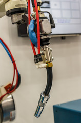 welding Robots machine in the automotive parts industry.