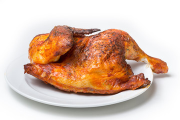 plain isolated roasted chicken