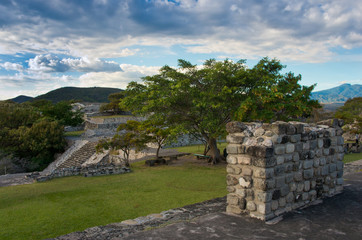 Pre-Columbian archaeological site of Xochicalco, Mexico